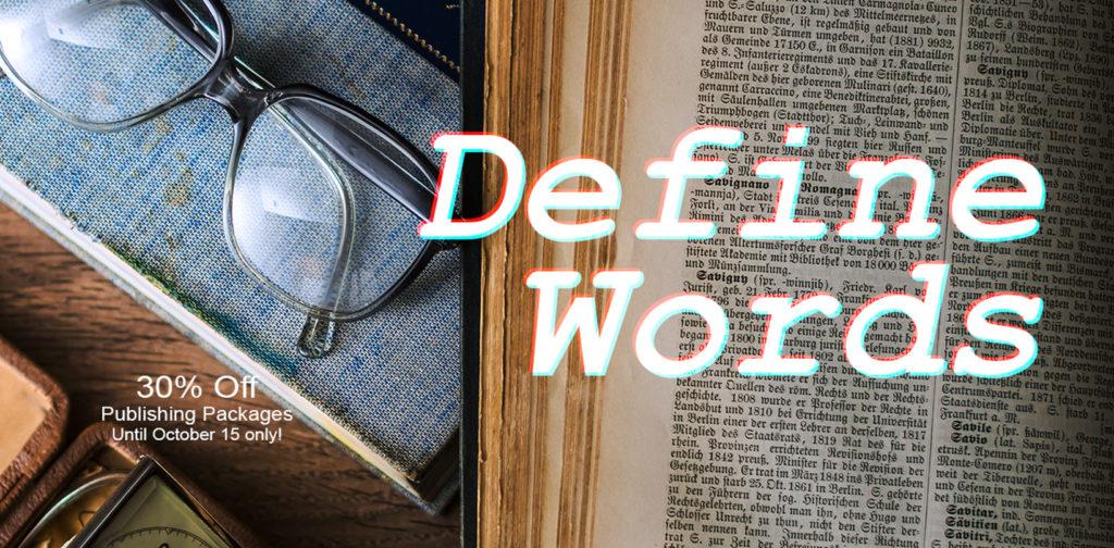 BookVenture Define Words Publishing Promo