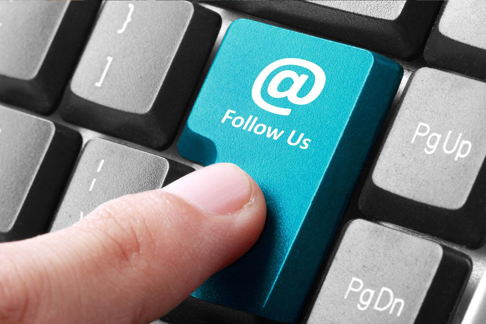 follow through social media