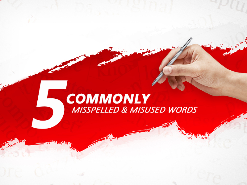 5 common words that you should stop misspelling and misusing page banner