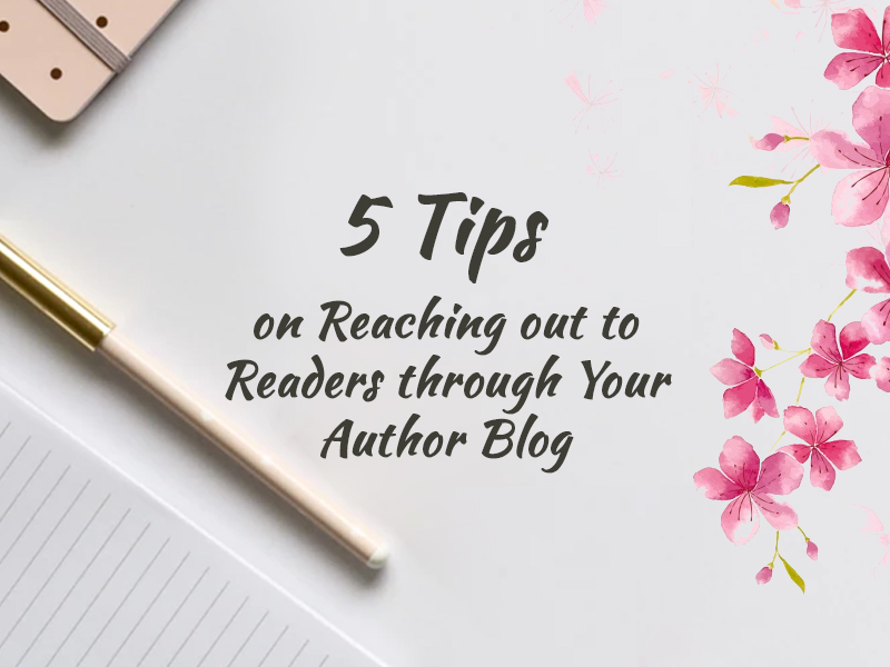 reach out readers through author blog banner