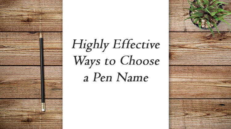 tips on how to choose a pen name